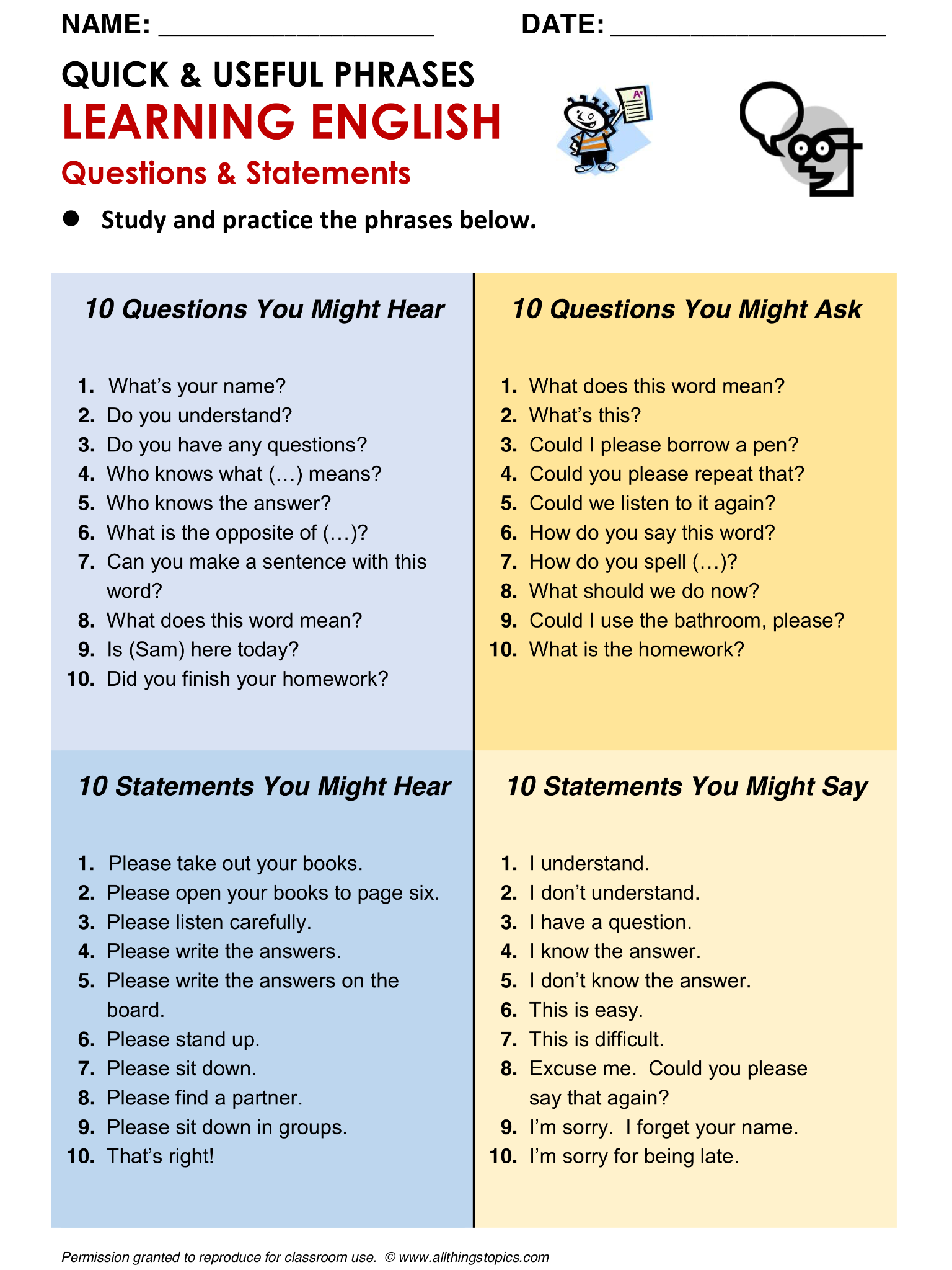 most common phrases in english conversation pdf
