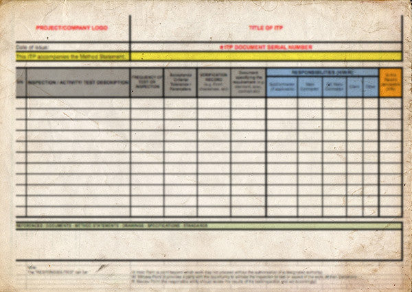 inspection test plan for piping pdf
