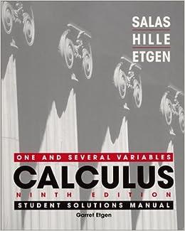 calculus 9th edition by salas hille etgen solution manual pdf