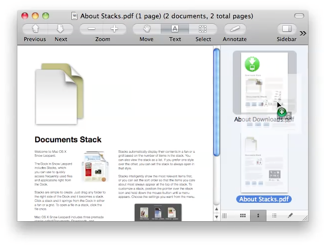 extract pages into pdf in preview