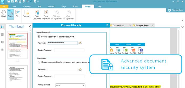 edit secured pdf file online