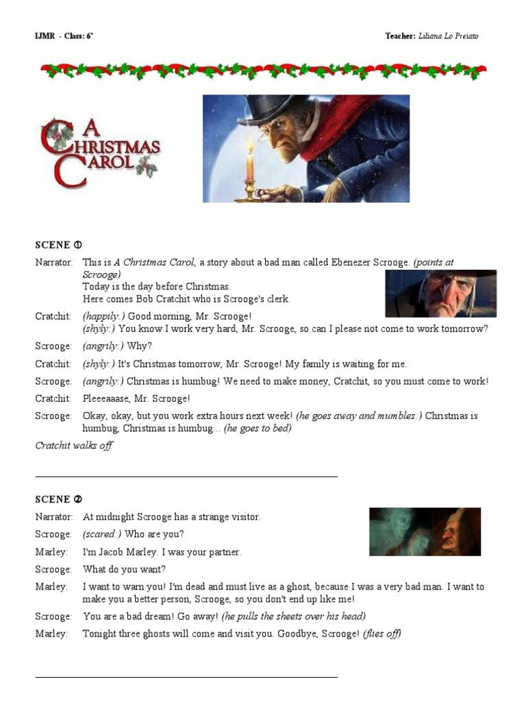 a christmas carol script pdf