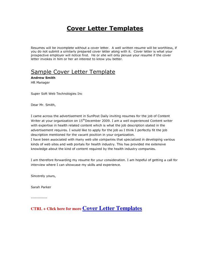 best cover letter for job pdf