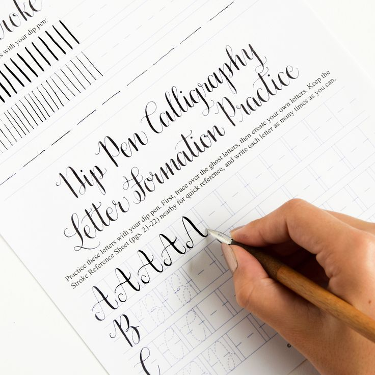 calligraphy worksheets for beginners pdf