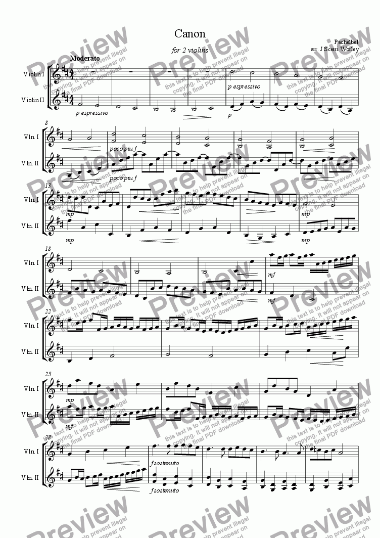 canon in d viola sheet music pdf