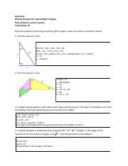 solving right triangles problems pdf