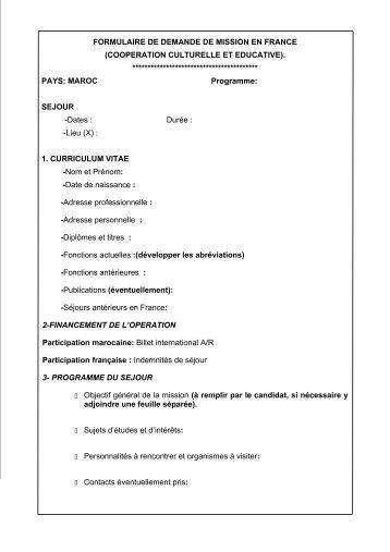 formulaire de demande de visa france pdf