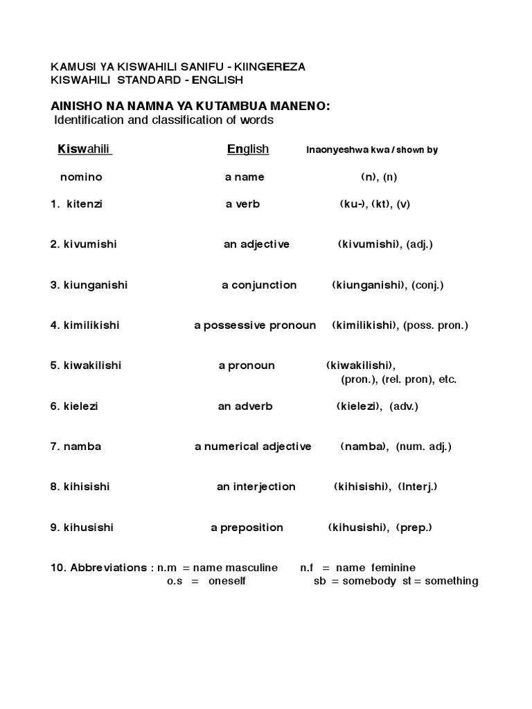 kamusi ya kiswahili sanifu pdf