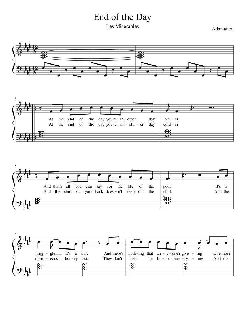 les miserables full score pdf free download