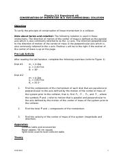 momentum problems with solutions pdf