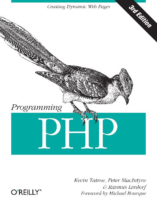 programming php by kevin tatroe peter macintyre rasmus lerdorf pdf