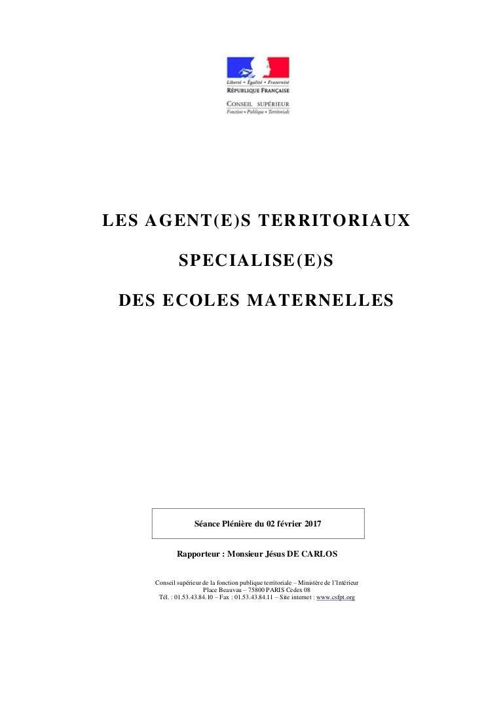 rapport de stage maternelle pdf