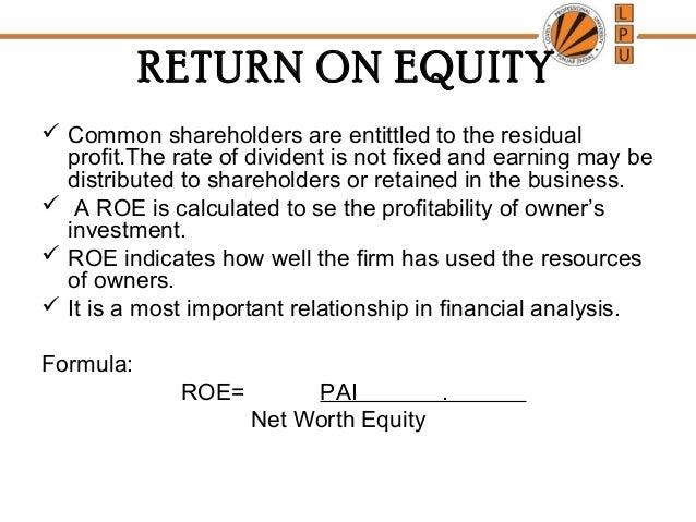 roi and roe analysis pdf