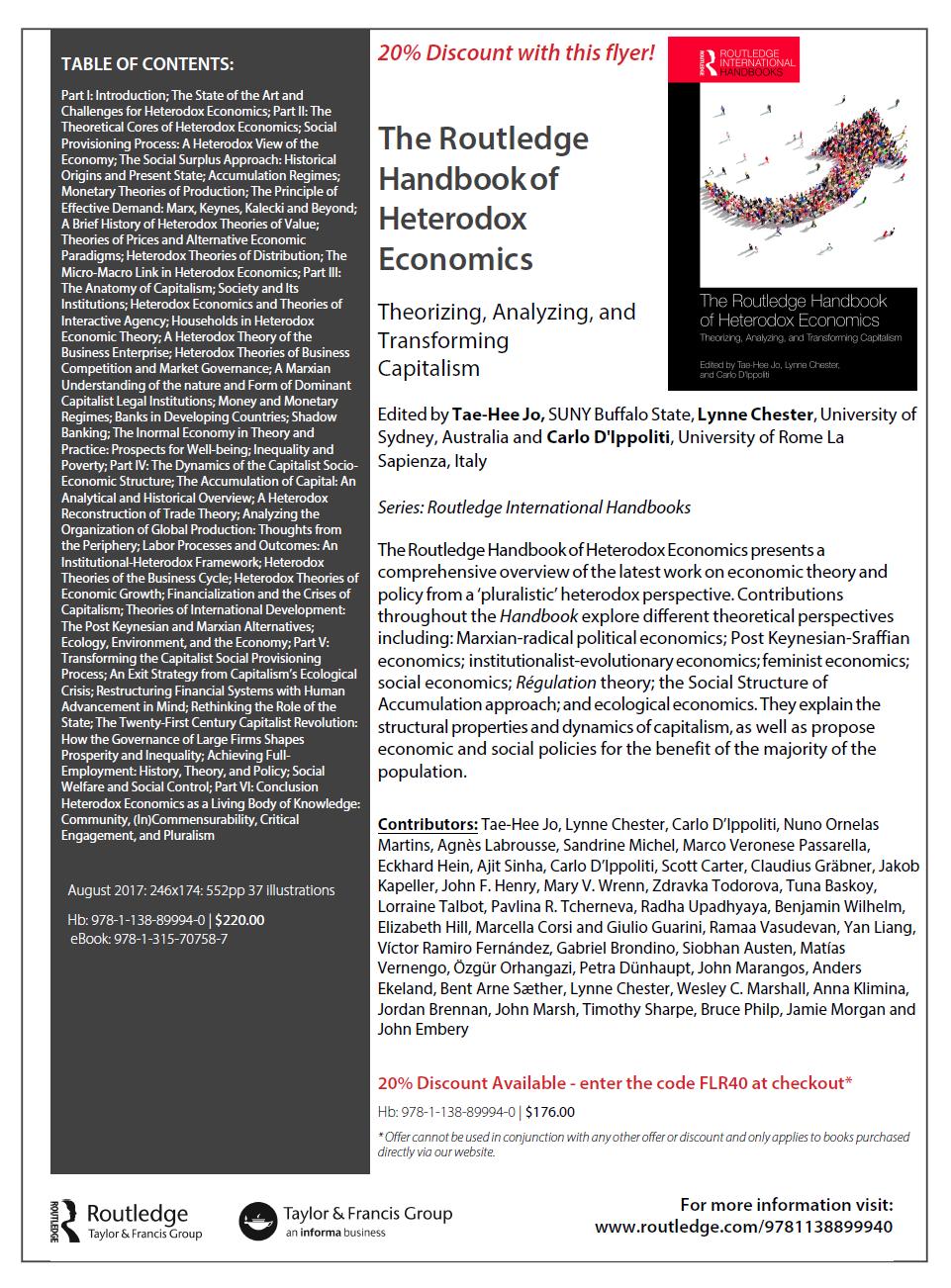 routledge handbook of marxian economics pdf