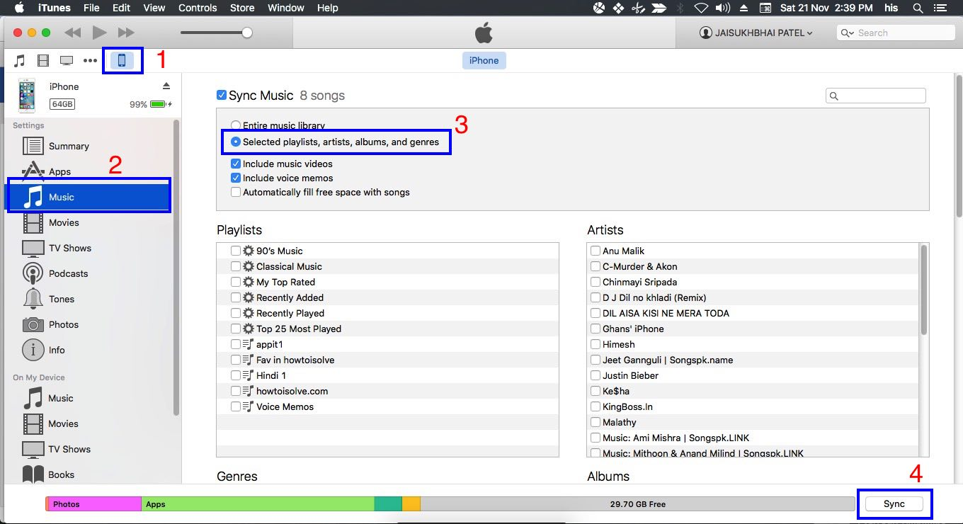sync ibooks pdf from iphone to mac