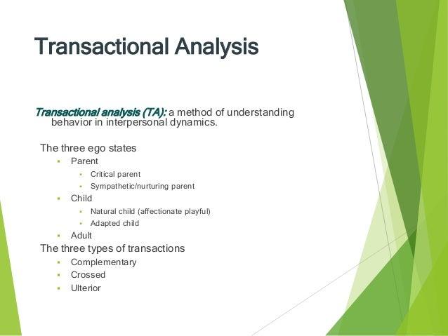 transactional analysis in organisational behaviour pdf